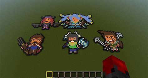 League Of Legends Champions ( Pixel Art ) Minecraft Project