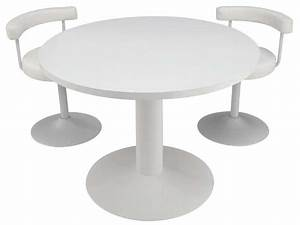 Table ronde FJORD coloris blanc Conforama Pickture
