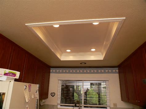 recessed ceiling crown molding crown when the fixtures come recessed lights in and