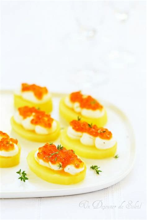 canape oeuf canapés de pommes de terre fromage frais et oeufs de