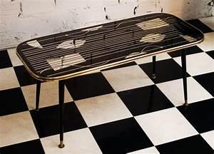 Table Basse Année 50 : table basse vintage noire verre miroir 1950 meubles ann es 50 forme rectangulaire ~ Teatrodelosmanantiales.com Idées de Décoration