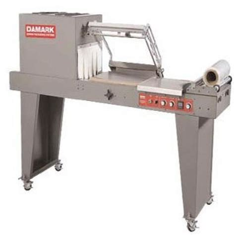 butcher block top damark mp2 shrink wrap machine w perforator