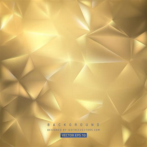 gold polygon background template