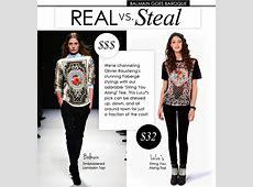 Real vs Steal Balmain Goes Baroque Luluscom Fashion Blog