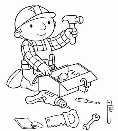 Working Coloring Builder Tools Bob Preparing Before