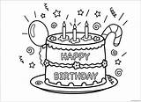 Birthday Happy Cake Coloring Screen sketch template