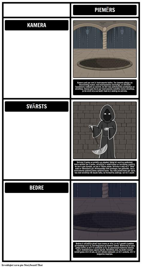 Tēmas, Simbolus un Motīvi Bedrē un Pendulum Storyboard