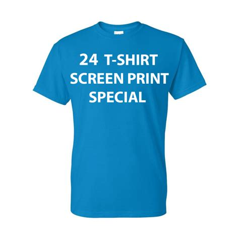 T Shirt 24 24 screen print t shirt special