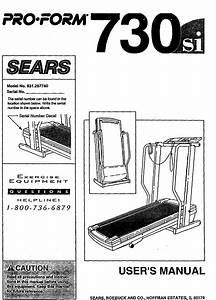 Proform 831297740 User Manual Space Saver 730si Treadmill