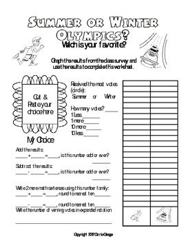 olympics math worksheet  carrie ossege teachers pay