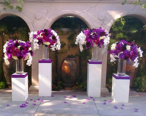 Gorgeous Purple Flowers At The Altar Ceremony Flowers