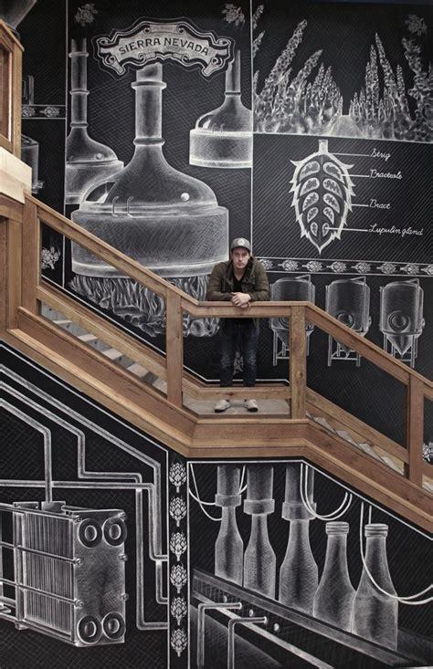 amazing chalk mural   beer brewery  ben johnston