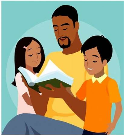 Reading Fathers Father Children Parents Dad Clipart