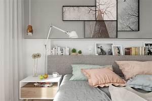 Meuble Mural Chambre : couleur chambre design 42 espaces domin s par le gris ~ Teatrodelosmanantiales.com Idées de Décoration