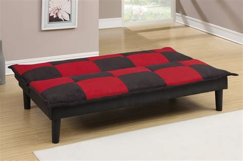 black fabric sofa bed poundex f7001 black twin size fabric sofa bed steal a