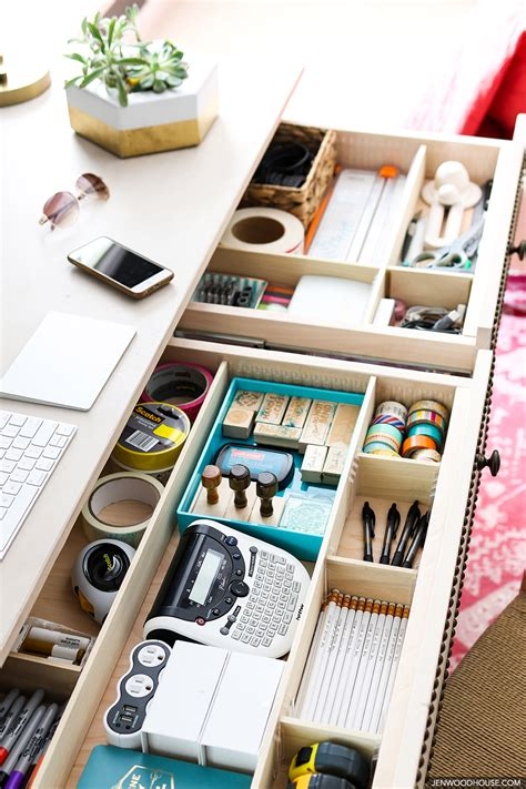 simple desk with drawers easy diy drawer divider organizers