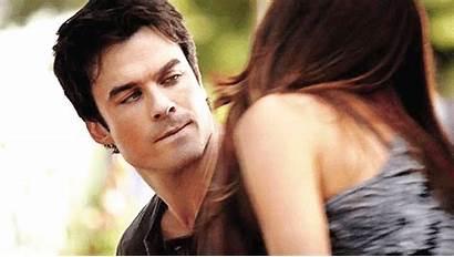 Damon Elena Delena Kiss Vampire Diaries Iznad
