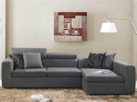 canapé d angle avec coussin canapé d 39 angle tissu quot quot 4 places gris