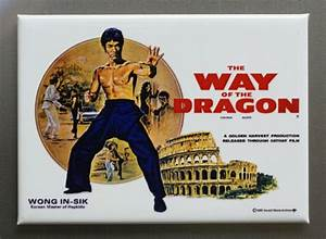 Bruce Lee Way Of The Dragon Refrigerator Fridge Magnet