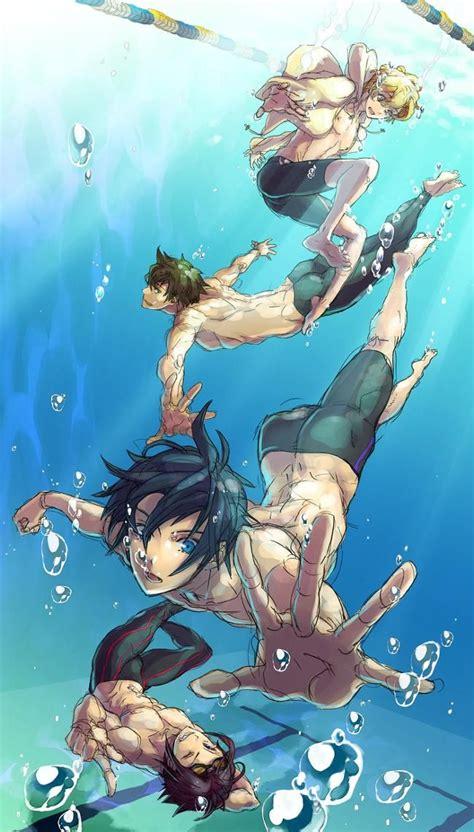 Freeiwatobi Swim Club Anime Iwatobi Swim Club