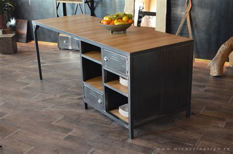 cuisine bois metal fabrication de meubles sur mesure micheli design