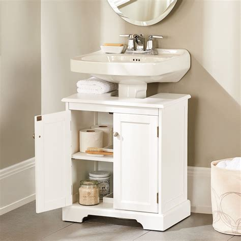 Small Bathroom Sinks With Storage by Weatherby Bathroom Pedestal Sink Storage Cabinet