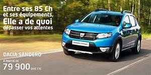 Dacia Sandero Stepway Prix Maroc : dacia promotion et offres des dacia au maroc ~ Gottalentnigeria.com Avis de Voitures