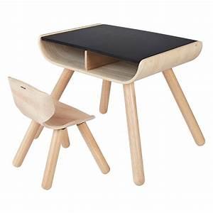 Tisch Und Stuhl : plantoys tisch und stuhl schwarz kinderzimmerhaus ~ Pilothousefishingboats.com Haus und Dekorationen