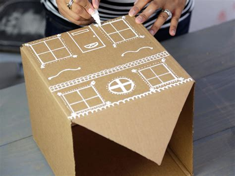 diy gingerbread house gift boxes hgtvs decorating