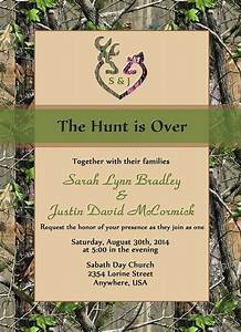 the hunt is over wedding invitation sets camo deer With printing wedding invitations officeworks