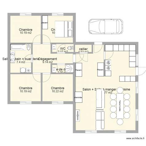 plan maison plain pied 4 chambres avec suite parentale maison 130m2 plan plain pied 4 chambres