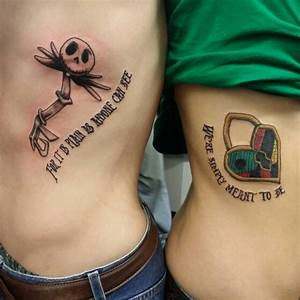 Jack and sally key and heart tattoo | tattoo portfolio ...