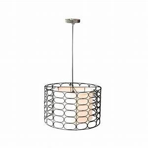 Jeffan vasha light black wrought iron drum shape hanging