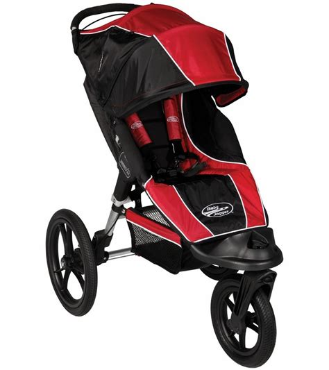 baby jogger summit xc single  jogging stroller redblack