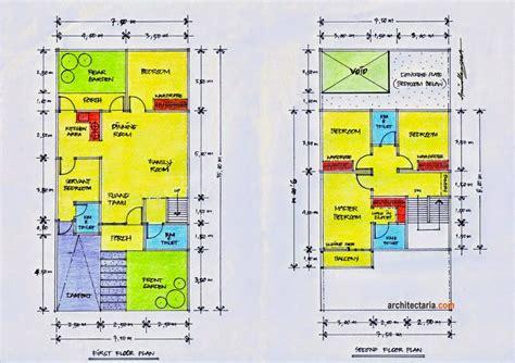 desain rumah ukuran  meter gontoh