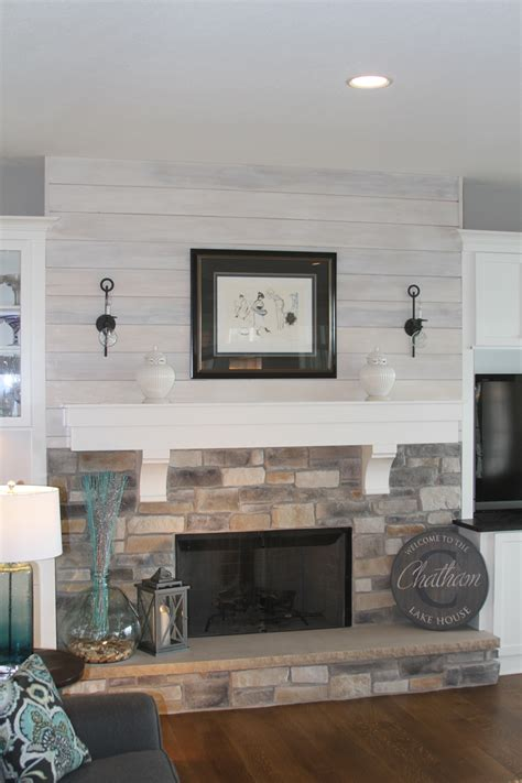 Shiplap Fireplace by Board Shiplap Fireplace Construction Daringroom Escapes