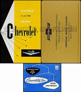 1959 Chevy Car Assembly Manual Biscayne Bel Air Impala El