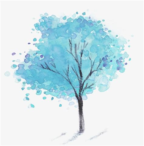 Tree Wallpaper Clipart by Blue Tree Tree Clipart Winter Png Transparent Image And