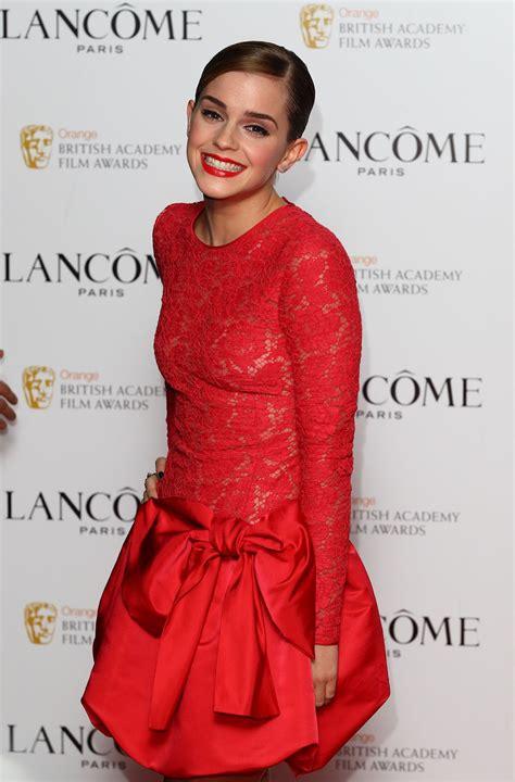 celebrity emma watson  red dress