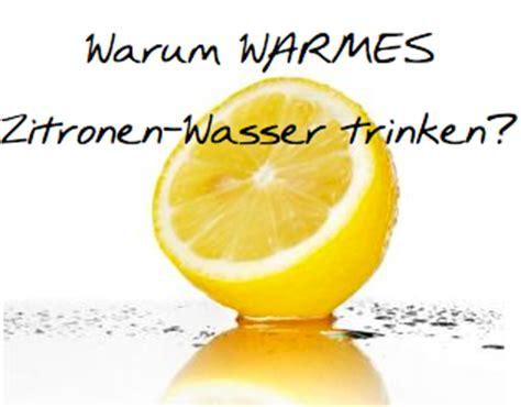 Zitronenwasser am, morgen trinke - und