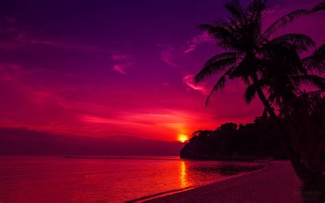 Beautiful Sunset Desktop Wallpaper Widescreen Hd