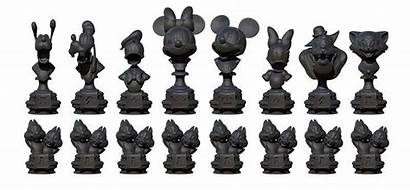 Chess Disney Mickey Villains Games Pieces Mouse