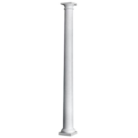 hb g 8 in x 8 ft primed wood porch column 105072 the