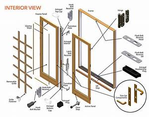 400 Series Frenchwood Patio Door Parts Diagram