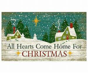 Customizable Large All Hearts Come Home for Christmas