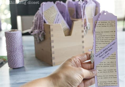diy wedding favor bookmarks d i y bookmark wedding favors the thinking closet