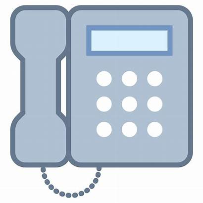 Icon Office Clipart Phone Rectangle 1x4 Telephone