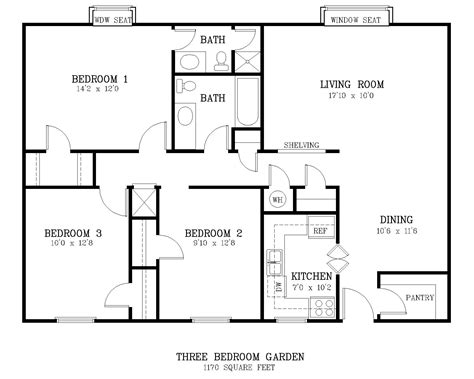 4 bedroom floor plans one average size of one bedroom apartment photos and
