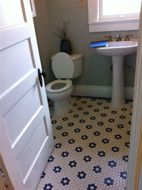 small hexagon bathroom tiles black and white hexagonal tile floor laundry mud room pinterest white hexagonal tile