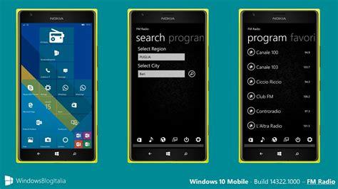 fix radio fm mancante in windows 10 mobile build 14322